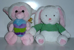 Easter Rabbit and Pig stuffies : Clean : excellent condition