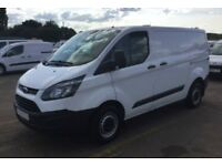 2017 WHITE FORD TRANSIT CUSTOM 2.0 TDCI 105 270 SWB VAN CAR FINANCE FR £50 PW