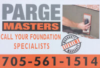 PARGE MASTERS – YOUR FOUNDATION SPECIALISTS