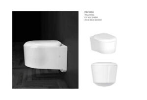 Luxury Wall Hung  Toilet for concealed cistern installation
