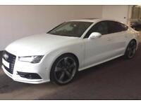 2015 WHITE AUDI A7 SPORTBACK 3.0 BITDI QUATTRO BLACK EDT CAR FINANCE FR £109 PW