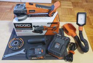 RIDGID Brushless 18V 4-1/2 in. Angle Grinder