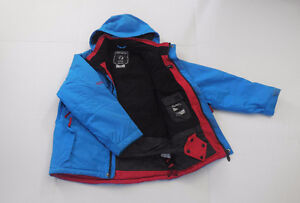 RipZone Ski Jacket - Caribbean Blue with Red accents