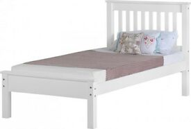 New white 3ft single wooden bed free delivery