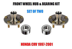 Wheel Hub And Bearing Kit Assembly Honda CRV SET OF TWO Front