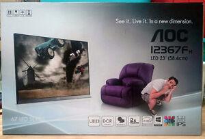 "AOC 23"" I2367Fh LED IPS Full-HD monitor new with warranty"