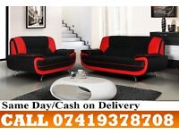 50 % OFF BLACK AND WHITE KAROL 3 AND 2 SEATER SUITE