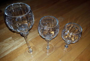 Glass Bowls, Vases, Jars & Candle Holders