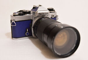 Custom Leather Nikon FE 35mm SLR with Zoom Lens