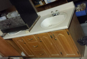 Large Double Vanity, Countertop, Sinks, and Faucets Incl
