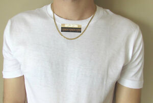 NEW 9K Yellow Gold Filled Women's Men's Chain/Chaine