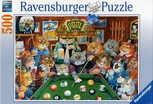 RAVENSBURGER PUZZLE 500 Pcs. HALL DE LA PISCINE CHATS COMME NEUF