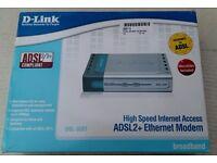Modem - D-Link DSL-320T ADSL2+ Ethernet