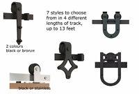 7 styles, 5 sizes  of barn door hardware