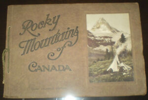 Rare 1920s The Canadian Pacific Rockies book