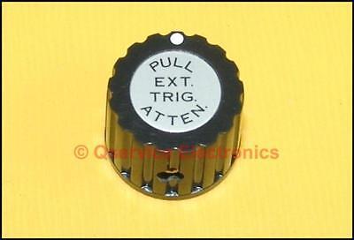 1 Pcs Tektronix Knob Black Marked Pull Ext Trigger Atten 500 600 Series Nos