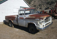1960 Dodge 1/2 ton project truck