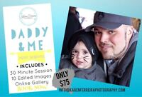NOW BOOKING: DADDY & ME MINI PHOTO SESSIONS