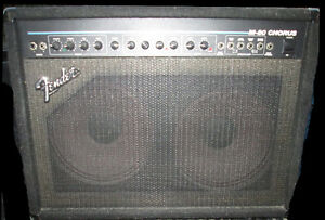"Fender PR-154 Combo Amp-- 2 Channel-Chorus-2 X 12"" Speakers"