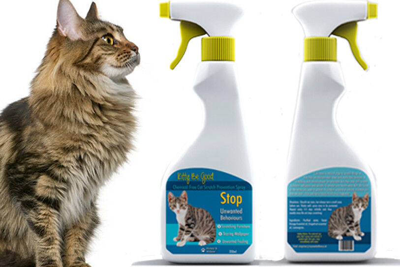 Kitty Be Good. Cat Anti Scratch Spray Furniture Wallpaper Carpets Stop Fouling