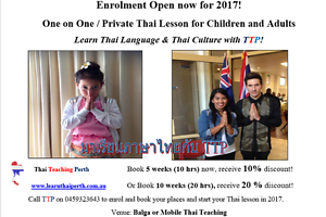 TTP-Thai Teaching Perth Balga Stirling Area Preview