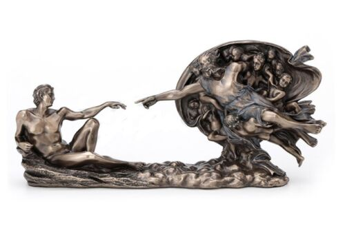"""10.5"""" Genesis The Creation of Adam Statue God and Man Sculpture"""