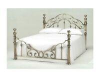 King Size brass bedframe