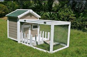 Deluxe cottage rabbit Guinea pig hutch run Bella's mini lops