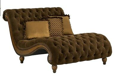 Rachlin classics furniture dinah s chaise a half in for Animal print chaise