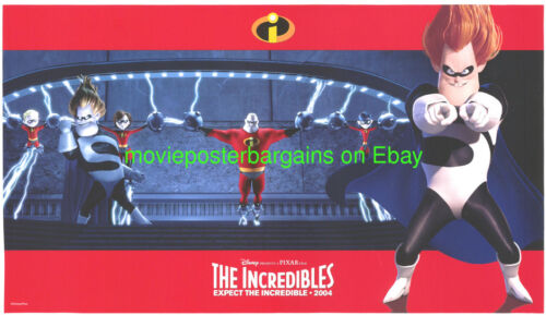 THE INCREDIBLES MOVIE POSTER  5 Original LOBBY CARDS A Set DISNEY ANIMATION 2004