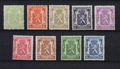 BELGIUM 1935 LION DEF.SET MNH** 418A/26