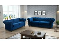 Chesterfield 3+2 Seater Sofa Royal Blue
