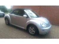 Silver Beetle Convertible, Grey leather, alloys, heated seats, long MOT