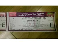 Paolo Nutini Edinburgh 30DEC 2 Tickets - SOLD!!