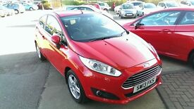 Ford Fiesta 1.0 ecoboost (100bhp) red