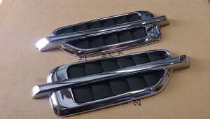 UNIVERSAL ESCALADE FENDER SIDE AIR VENTS CHROME TAHOE CHEVY GMC SUBURBAN YUKON