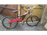 Black Red XCT CONCEPT Mountain Bike