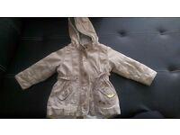 Next parka, Vertbaudet jacket, green, coral size 12-18 months
