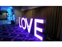 For sale £600 4ft LED LOVE letters