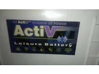ACTIVE LEISURE BATTERY FOR CAMPERVANS/CARAVANS FULLY CHARGED