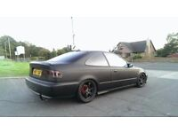 Honda civic coupe black matt like eg ek polo vw golf modified show car ford focus st gt lowered b16