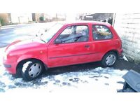 1.0 nissan micra 3 door 10 months m.o.t 56000 genuine miles starts first time half tank a fuel!