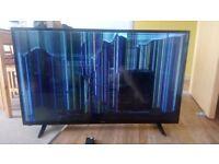 "50"" Polaroid LED TV smashed screen"