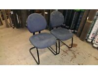 Office Visitor Reception Waiting Room Chair / Retro Chairs by Steelcase Blue 6 available