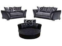 NICE BRAND OFFER model 3+2 seater sofa brand new free pouffe