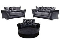 BEAUTIFUL SALE OFFER model 3+2 seater sofa brand new free pouffe