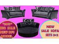 FANTASTIC SALE 3+2 seater sofa brand new free pouffe fast delivery