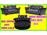 BEST BRAND SALE 3+2 seater sofa brand new free pouffe fast delivery