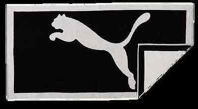 Puma Handtuch für Fitnesstraining oder Sauna | Towel schwarz - weiss 138 x 77 cm