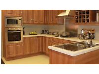 """For sale Brand new""""Dark wooden laminate kitchen units complete with doors plus more **Limited time"""